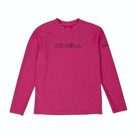 Rash Vest Girls O'Neill Basic Skins Long Sleeve - Watermelon