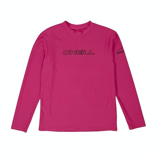 O Neill Basic Skins Long Sleeve Kids Rash Vest