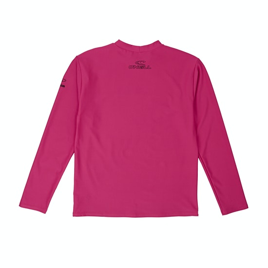 O'Neill Basic Skins Long Sleeve Girls Rash Vest