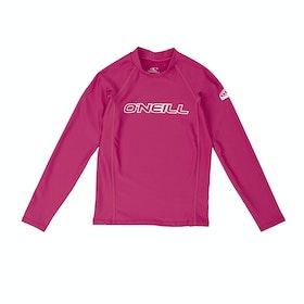 Rash Vest Girls O'Neill Basic Skins Long Sleeve Crew - Watermelon
