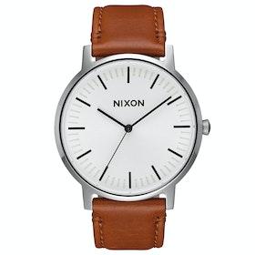 Montre Nixon Porter Leather - White Sunray Saddle