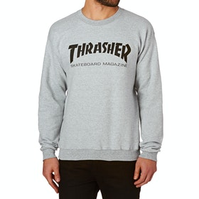 Thrasher Crew Skate Mag Crew Sweater - Grey
