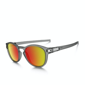 Oakley Latch Sunglasses - Grey Ink ~ Ruby Iridium