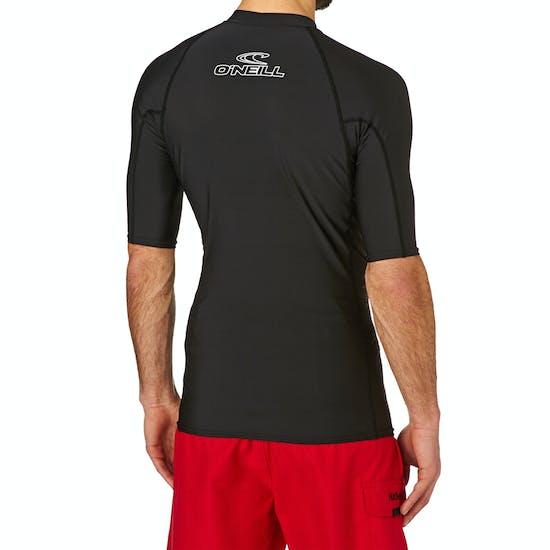 O Neill Basic Skins Short Sleeve Crew Rash Vest