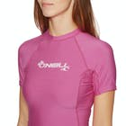 O'Neill Basic Skins Short Sleeve Crew Ladies Rash Vest