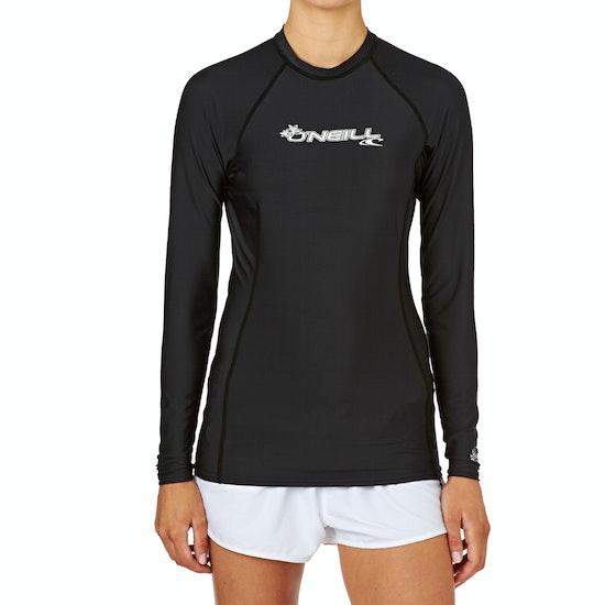 O'Neill Basic Skins Long Sleeve Crew Ladies Rash Vest