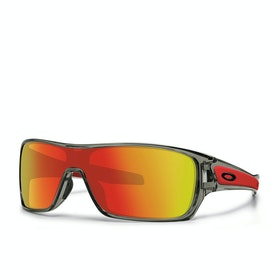 Oakley Turbine Rotor Sunglasses - Grey Ink ~ Ruby Iridium