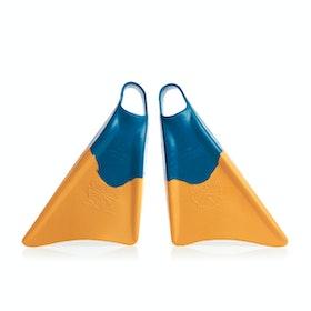 Churchill Makapuu Bodyboard Swim Fin - Blue/yellow