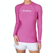 O Neill Skins Basic Long Sleeve Crew Ladies Rash Vest