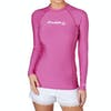 O Neill Skins Basic Long Sleeve Crew Womens Rash Vest - Fox Pink
