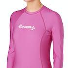O Neill Skins Basic Long Sleeve Crew Ladies Rash Vest