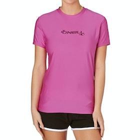 O'Neill Basic Skins Short Sleeve Crew Womens Surf T-Shirt - Fox Pink