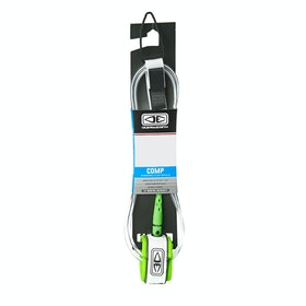 Ocean and Earth Regular Comp Surf Leash - White