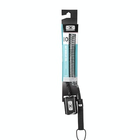 Ocean and Earth SUPLongboard Coiled Regular Surf Leash - Black