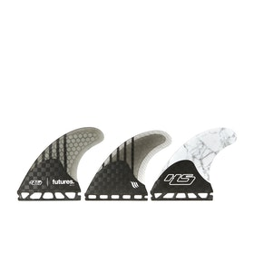 Futures V2 HS2 Generation Series Thruster Fin - Black White Grey