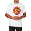 T-Shirt de Manga Curta Santa Cruz Classic Dot - White