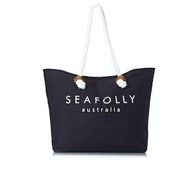 Seafolly Carried Away Ship Sail Womens Beach Bag - Indigo