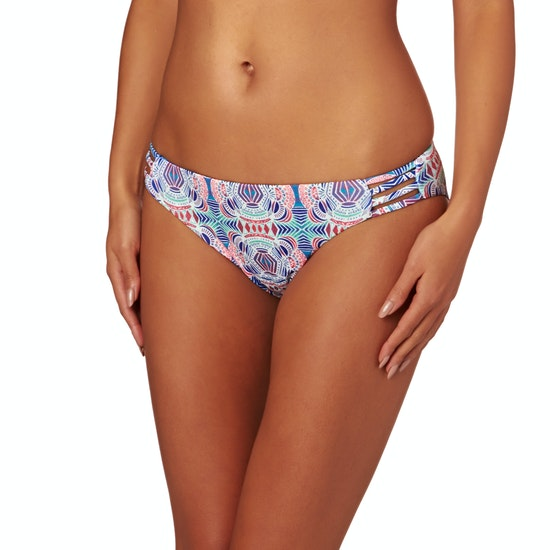 Roxy Printed Strappy Love Reversible foots Bikini Bottoms