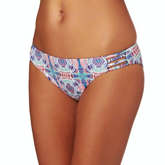Roxy Printed Strappy Love Reversible foots Bikini Bottoms