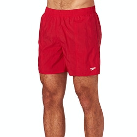 Speedo Solid Leisure 16inch Swim Shorts - Red