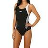Speedo Boom Splice Muscleback Womens Swimsuit - Black/White