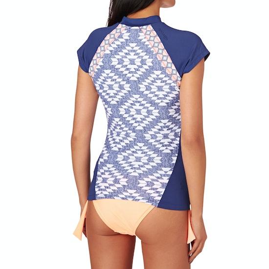 Rip Curl Del Sol Short Sleeve Ladies Rash Vest