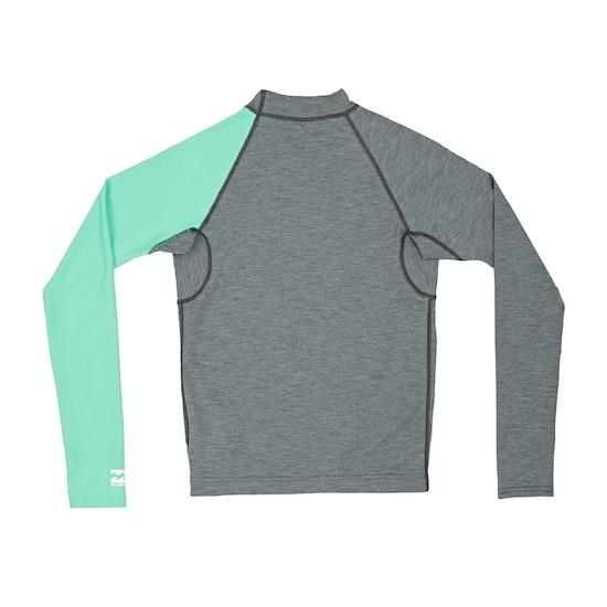 Billabong Contrast Long Sleeve Boys Rash Vest
