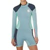Rip Curl Dawn Patrol 2mm Back Zip Long Sleeve Shorty Womens Wetsuit - Blue Ice