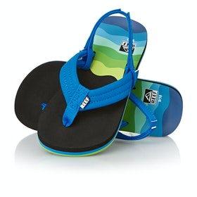Reef Ahi Kids Sandals - Aqua Blue