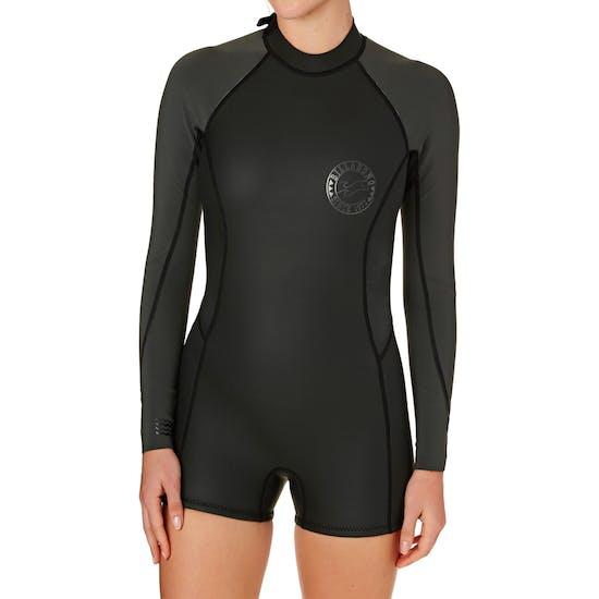 Traje De Neopreno Mujer Billabong Surf Capsule 2mm 2017 Back Zip Long Sleeve Shorty