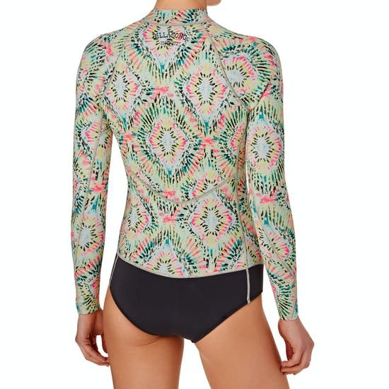 Billabong Salty Dayz 1mm 2017 Front Zip Long Sleeve Shorty Ladies Wetsuit