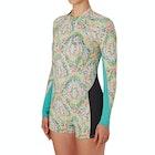 Billabong Surf Capsule Spring Fever 2mm Back Zip Long Sleeve Shorty Ladies Wetsuit