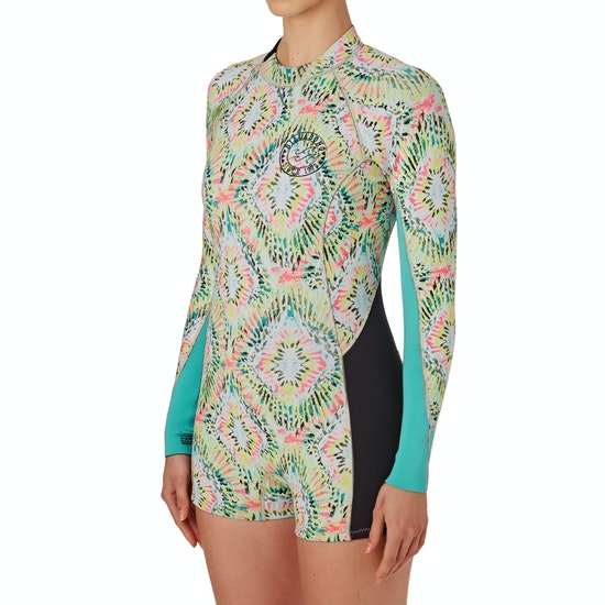 Billabong Surf Capsule Spring Fever 2mm Back Zip Long Sleeve Shorty Womens Wetsuit