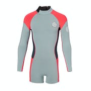 Rip Curl Junior G Bomb 1mm Front Zip Long Sleeve Shorty Kids Wetsuit