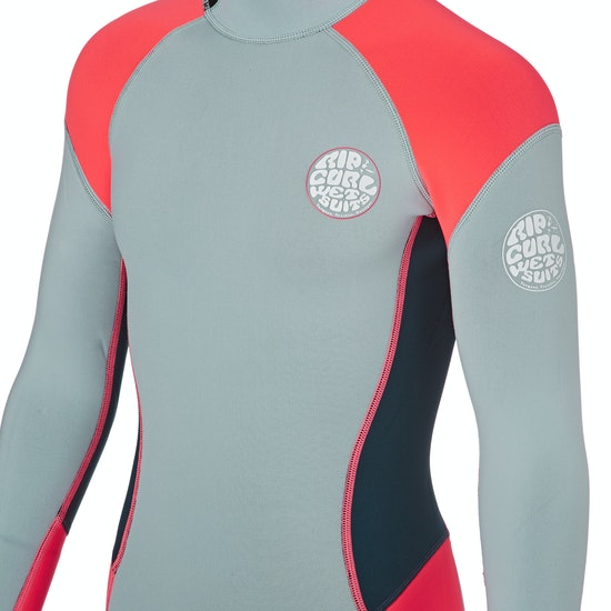 Rip Curl Junior G Bomb 1mm Front Zip Long Sleeve Shorty Mädchen Neoprenanzug