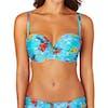 Lepel Aloha Moulded Bandeau Bikini Top - Blue Multi