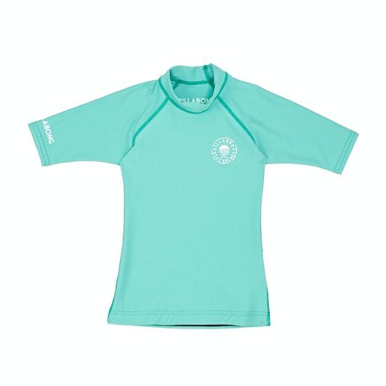 Billabong Toddler Logo In Short Sleeve Girls Rash Vest