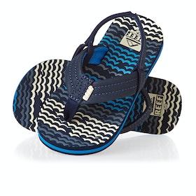 Reef Ahi Kids Sandals - Blue Horizon Waves