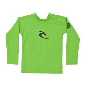 Rip Curl Groms Corpo Long Sleeve Boys Rash Vest - Lime