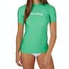 O'Neill Basic Skins Short Sleeve Crew Womens Rash Vest - Seaglass