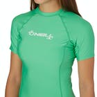 O'Neill Basic Skins Short Sleeve Crew Ladies Rash Vest