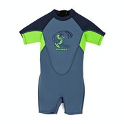 O'Neill 2mm Toddler Reactor Back Zip Shorty Boys Wetsuit