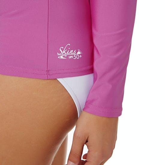 O Neill Basic Skins Long Sleeve Womens Surf T-Shirt