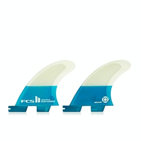 FCS II Performer Performance Core Quad Rear Fin - Teal