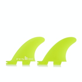 FCS II Carver Neo Glass Quad Rear Side Byte Fin - Lime