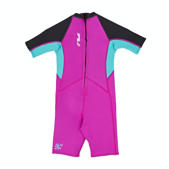 O'Neill 2mm Toddler Reactor Back Zip Shorty Girls Wetsuit