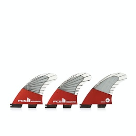 FCS II Accelerator Performance Core Carbon Thruster Fin - Red
