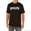 Grizzly Lowercase Logo Short Sleeve T-Shirt - Black