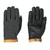 Hestra Deerskin Wool Tricot Gloves - Charcoal Black