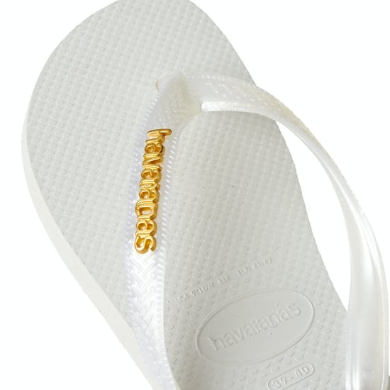 Havaianas Logo Metallic Womens Sandals